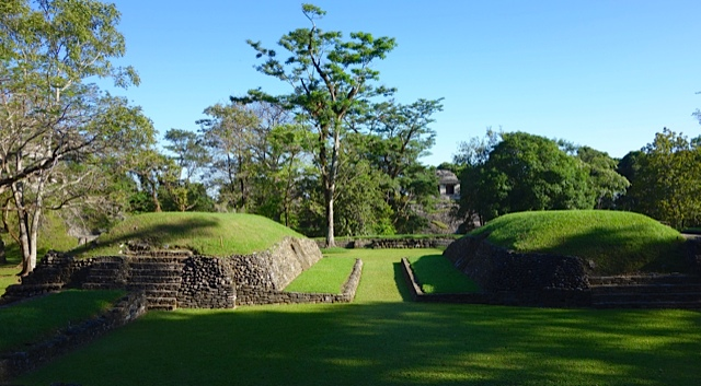 The Ball Court, small pre-Columbian standards