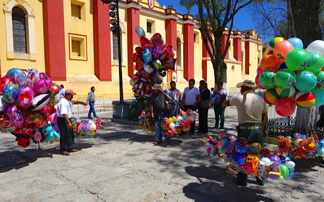 Balloon Sellers on the Main Plaza beside the Cathedral