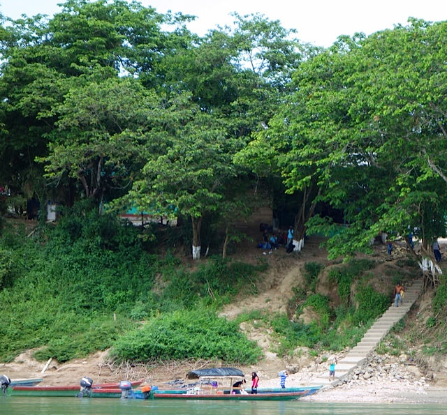 A typical settlement on the Guatemalan side of the river.