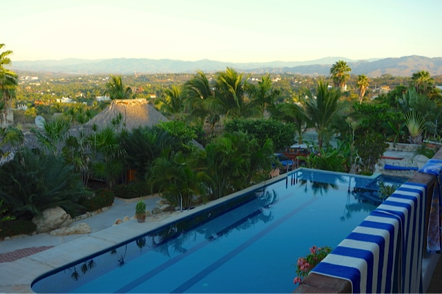 The pool at Sunset Point and Puerto Escondido beyond