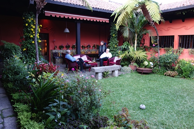 A small part of the courtyard at Ana and Carlotta's wonderful house