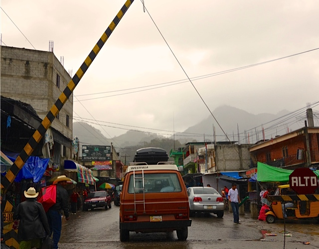 The border crossing, the rain, the welcome to Guatemala