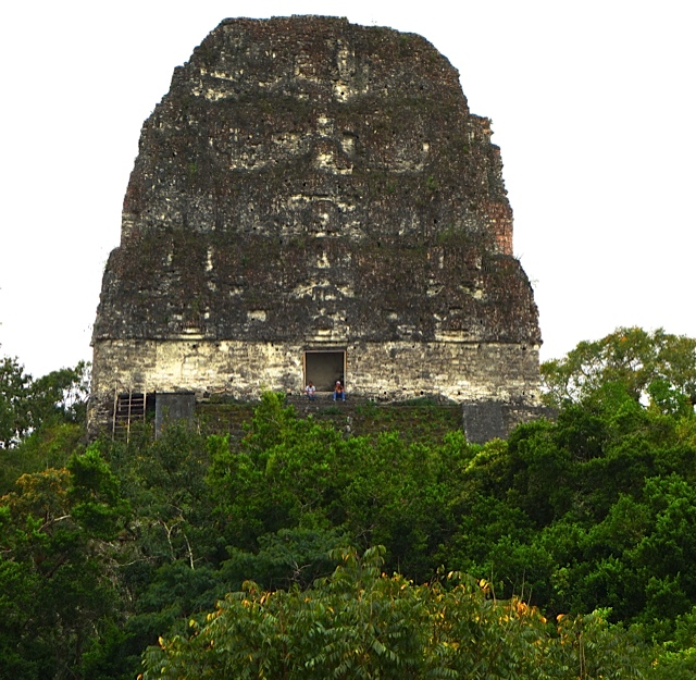 The structure atop Temple IV, the tallest of all the pyramids at Tikal