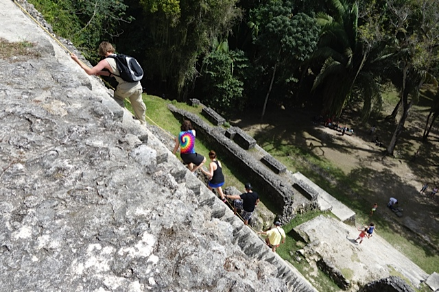 The descent from the High Temple was steep and a bit scary