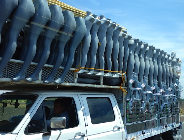 There must be hundreds of Mannequins on this truck!