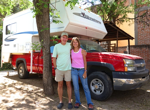 Terri and Mike Church in front of the rig they have used for the last few years.
