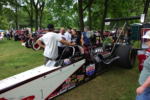 Karen Stalba and her Dragster
