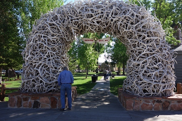 The Elkhorn Arch in Jackson, Wyoming