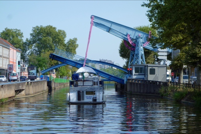 One of the many drawbridges in
