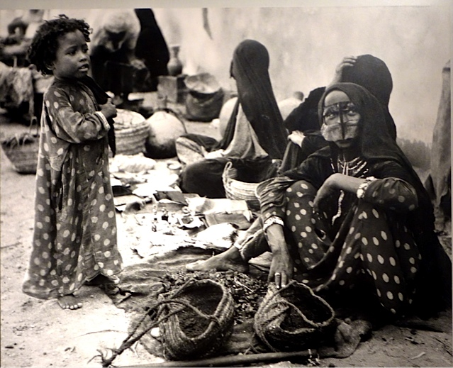 Women merchants in the souk in the old days