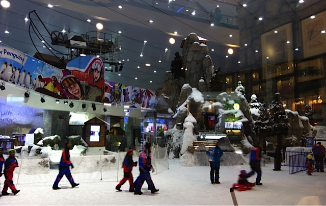 Just part of the ski resort at Mall of the Emirates