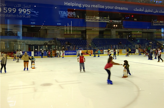 The ice rink at the Dubai Mall