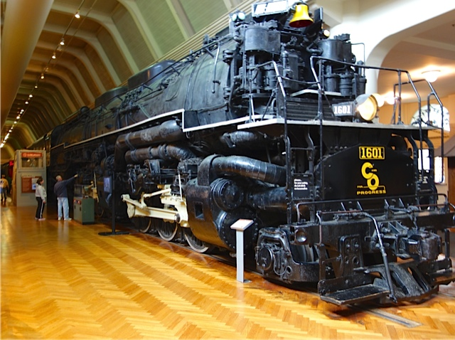 One of two remaining Alleghney locomotives, each the largest and most powerful steam locomotives ever built and 125 feet long