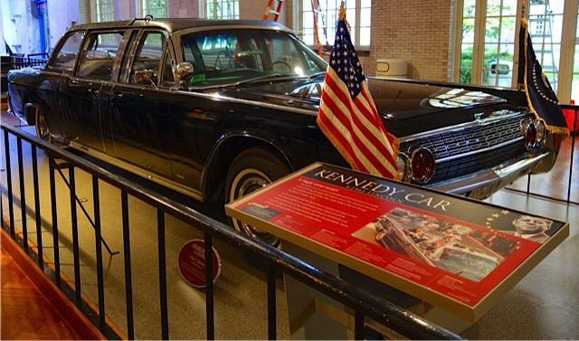 The car, with its roof in place, in which John F. Kennedy was assassinated