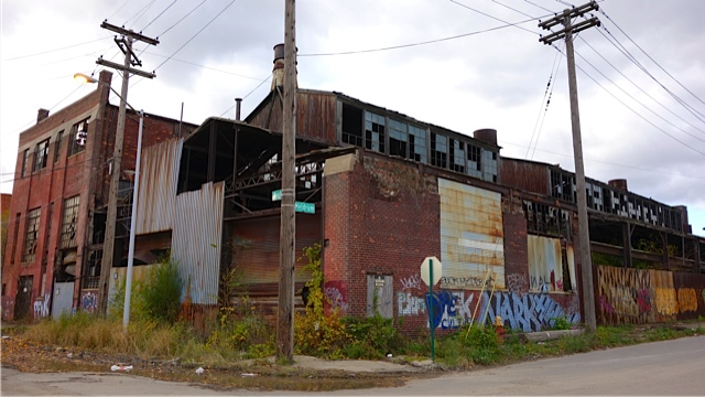 An abandoned building in the Parke Davis area