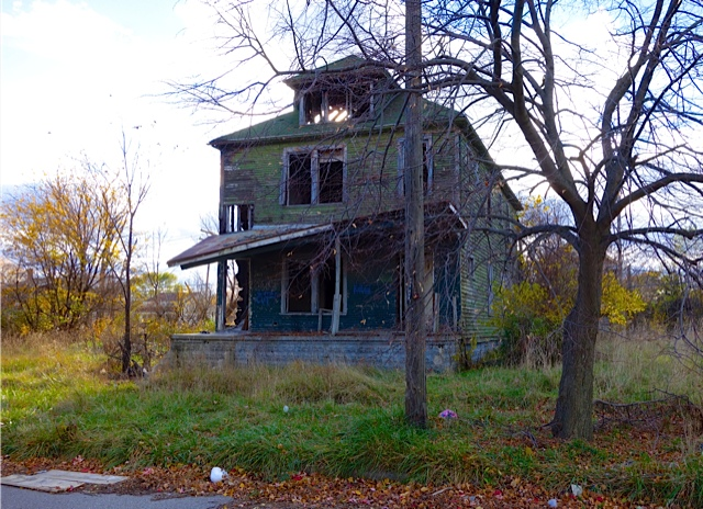 A former residence ready for demolition