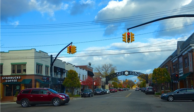 Grosse Pointe's 'Village', its most central and traditional shopping area