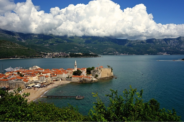 Budva from high on the hill above