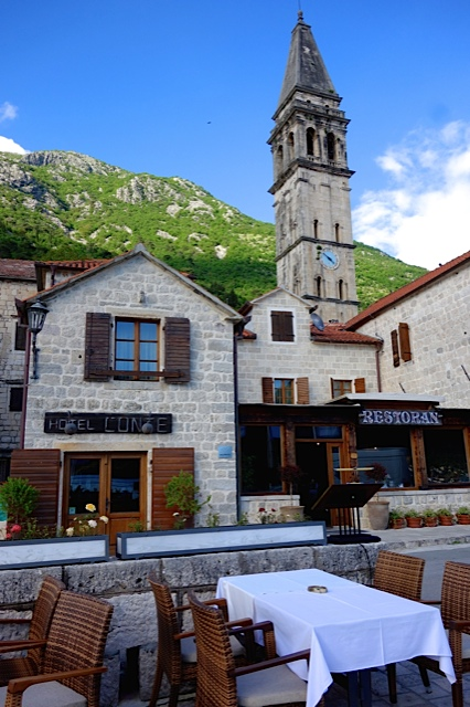 Our delightful hotel in Perast