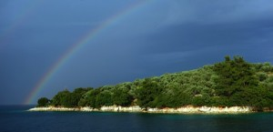 Rainbows, Meganisi, Ionian Islands, Greece