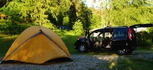 Tent and Kangoo