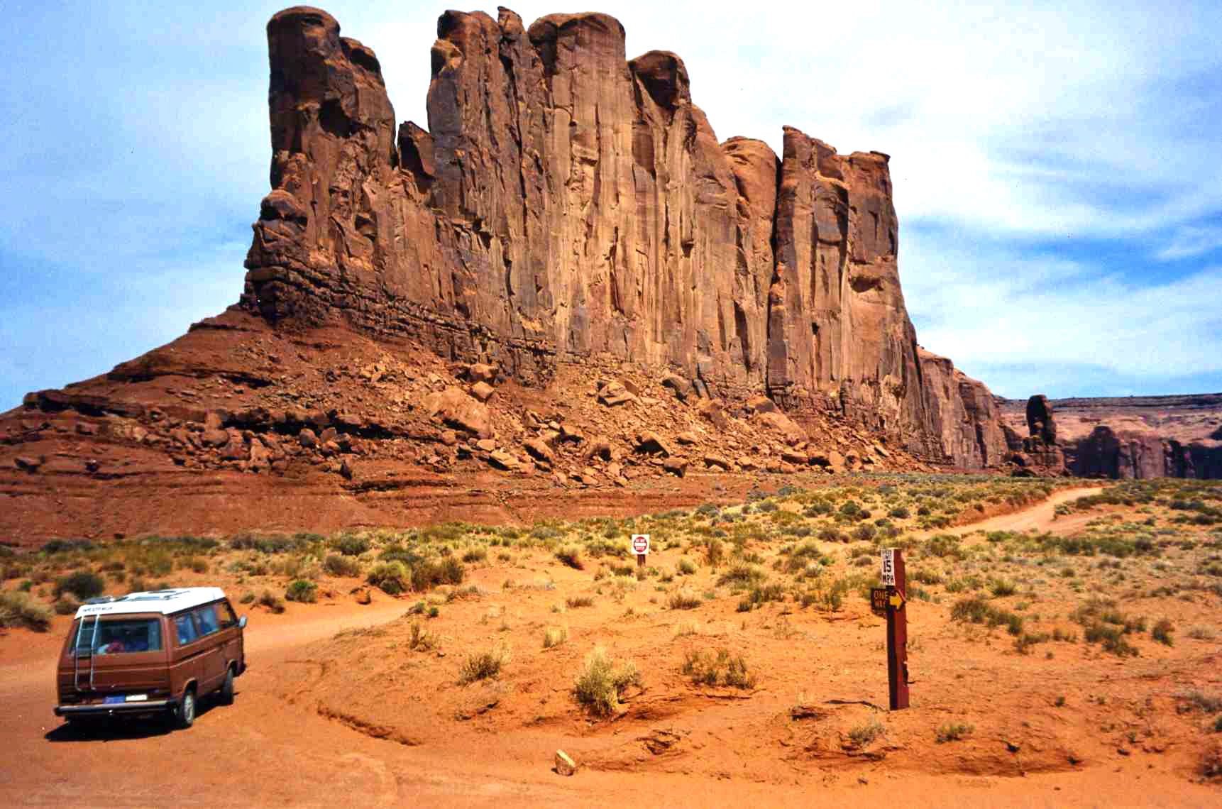 He also really loved roaming around Monument Valley