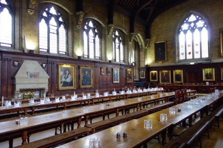 Dining Hall, Balliol College, Oxford, England