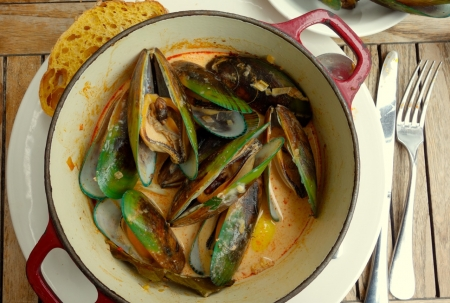 Green Lipped Mussels, Russell, Bay of Islands, NZ