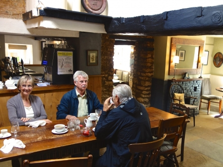 Lunch at The Keepers Arms, Quenington, Gloustershire, England