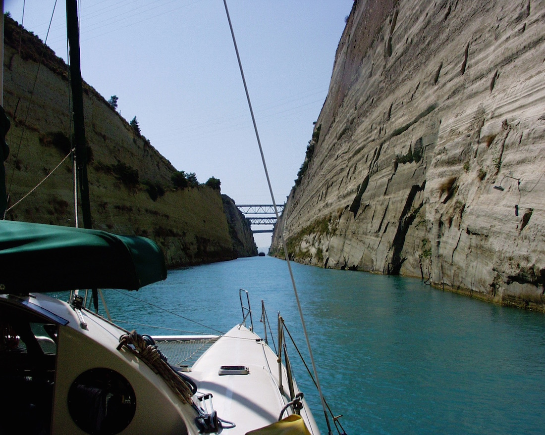 Corinth Canal, Sailing, Greece 2000