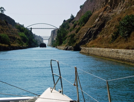 Corinth Canal, Sailing, Greece