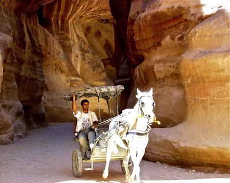 Buggy in entrance Petra