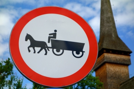 Watch out for horse carts! Maramures, Romania
