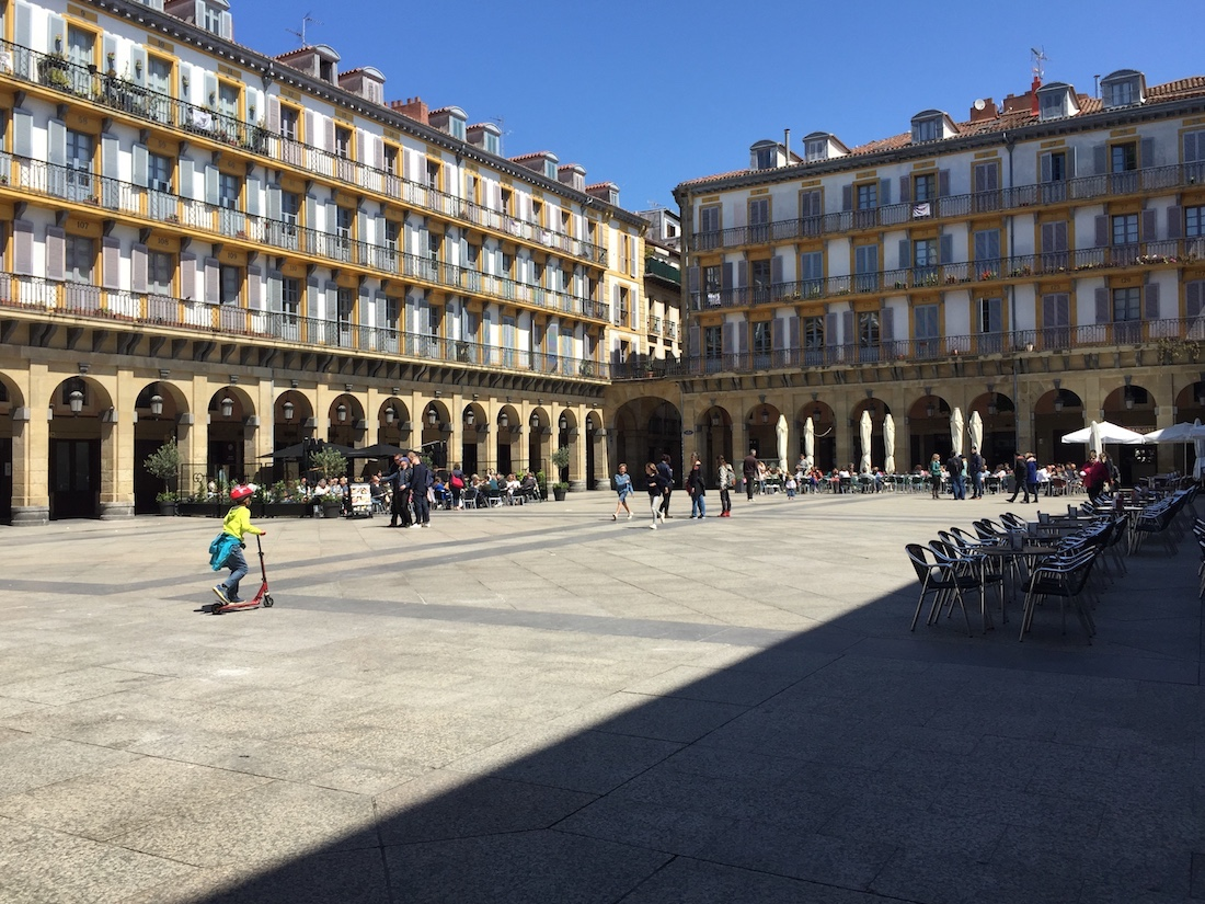 Square in San Sebastian